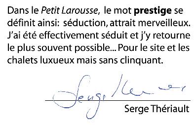 Commentaire de Serge Thériault (Moman dans la Petite Vie)